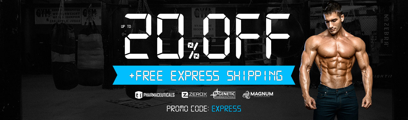 Free express shipping, 20% discount using the promo code: expres